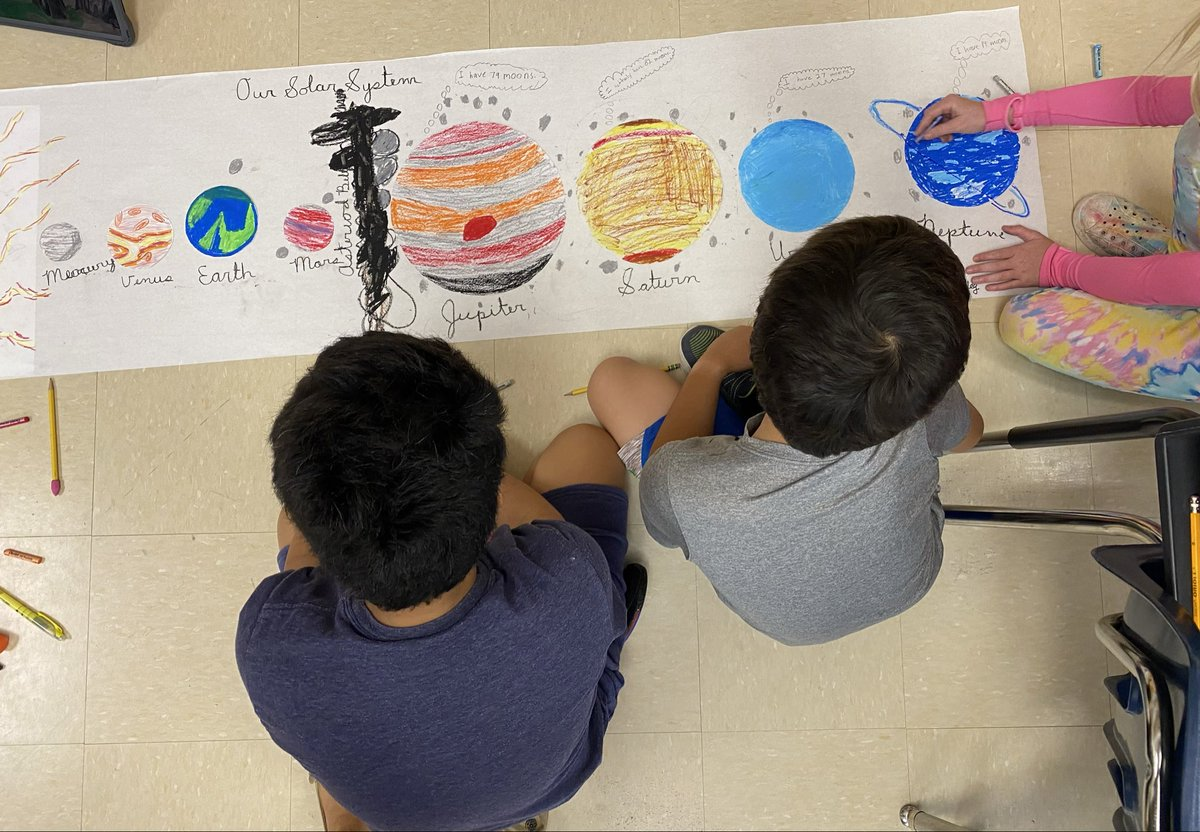 My Ss are working on the final touches of their 2D solar system model. <a target='_blank' href='http://twitter.com/APSscience'>@APSscience</a> <a target='_blank' href='https://t.co/FioRib6jzK'>https://t.co/FioRib6jzK</a>