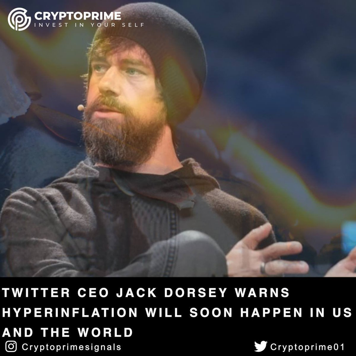 #Twitter CEO Jack Dorsey Warns Hyperinflation Will Soon Happen in US and the World  Read More:   #cryptocurrency #bitcoin #blockchain #crypto #btc #ico #ethereum #wallet #airdrop #cryptocurrencynews #cryptoexchange #trading #cryptotrading #love #followback