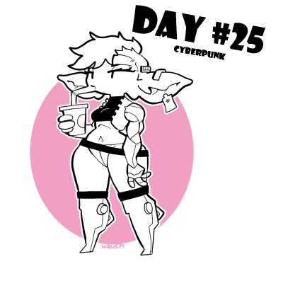 Day 24 of #gobtober2021 Cybergob sipping Cola