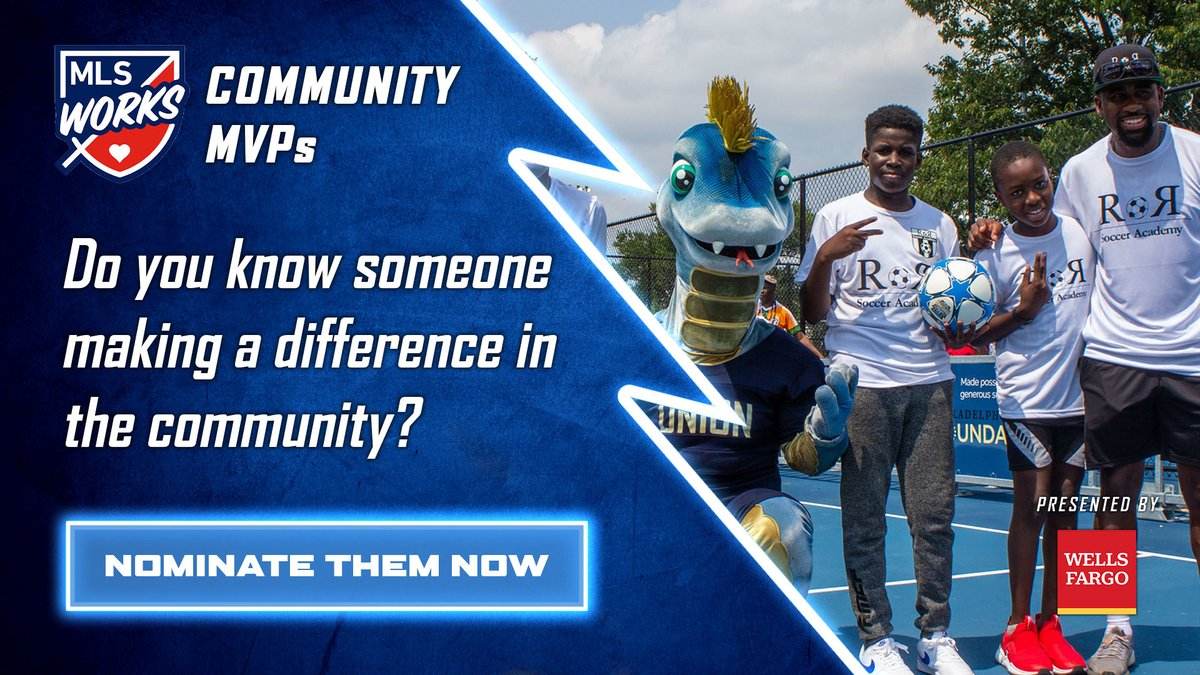 .@MLSWORKS wants to recognize your #CommunityMVP! Do you know someone keeping their community resilient & safe? This individual can be a healthcare worker, teacher, coach, etc. making a difference. Nominate them here 👉 philaunion.co/cmvp