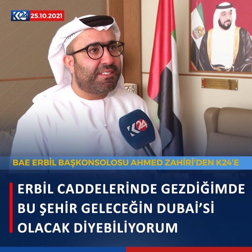 BAE Başkonsolosu: Erbil gelecekte Dubai gibi olacak