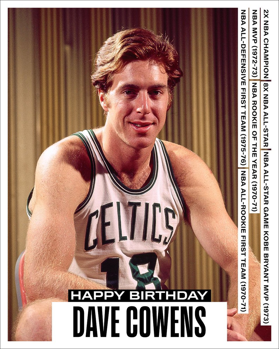 Join us in wishing a Happy 73rd Birthday to 8x #NBAAllStar, 2x NBA champion, 1972-73 NBA MVP and 75th Anniversary Team member, Dave Cowens! #NBABDAY #NBA75
