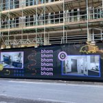 The branded hoarding for our Birmingham site, Compass is up! Thanks to @Zenith_Media_UK and @holdensagency for their work. Compass is set to open in September 2022 for Birmingham City University and Aston University students. #studentaccommodationconstruction #constructionproject