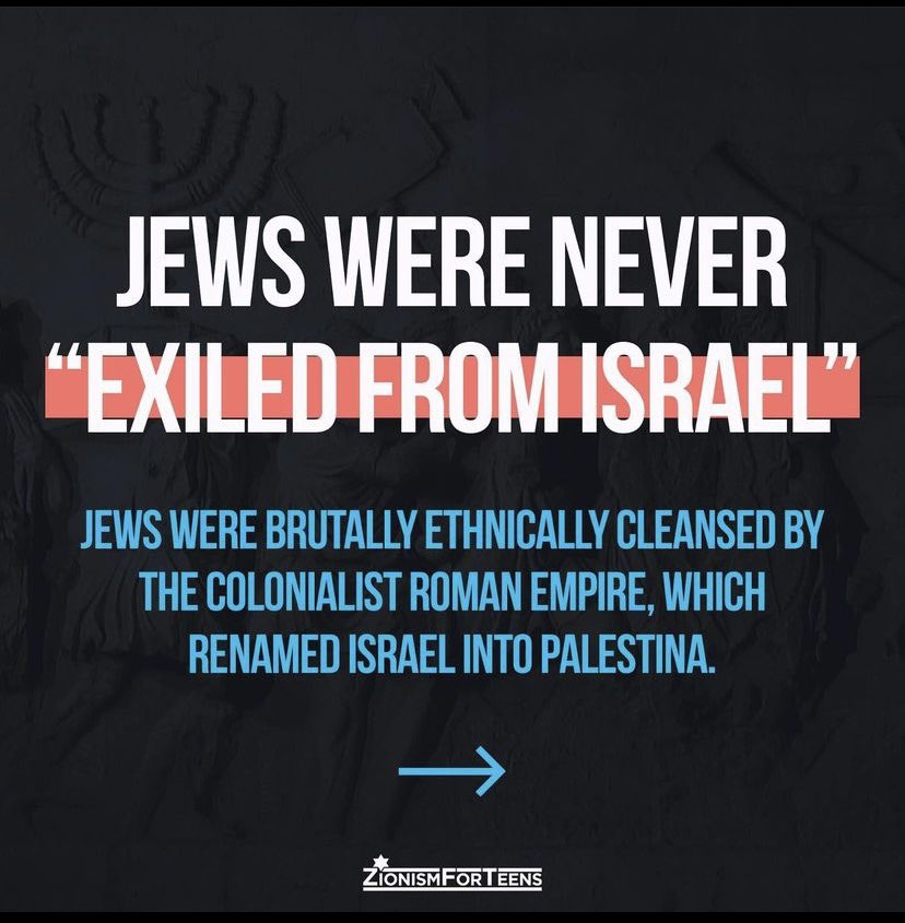 """#Language matters. When I hear that #Jews were """"exiled"""" from their #homeland, I wonder- was there an """"exit"""" sign and they just left?  #AskingForAFriend          @ClubZTeens               #endjewhatred"""