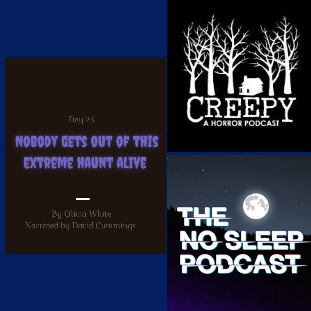 Part 2 of yesterday's Creepy x NSP Crossover event is #NowAvailable on @creepypod as Day 25 of the #31DaysOfHalloween  https://t.co/c45pmYZoqO  Go have a listen and give Jon & his crew a follow.   #MondayMotivation #31DaysOfHorror #requiredhalloweenlistening #podcastandchill