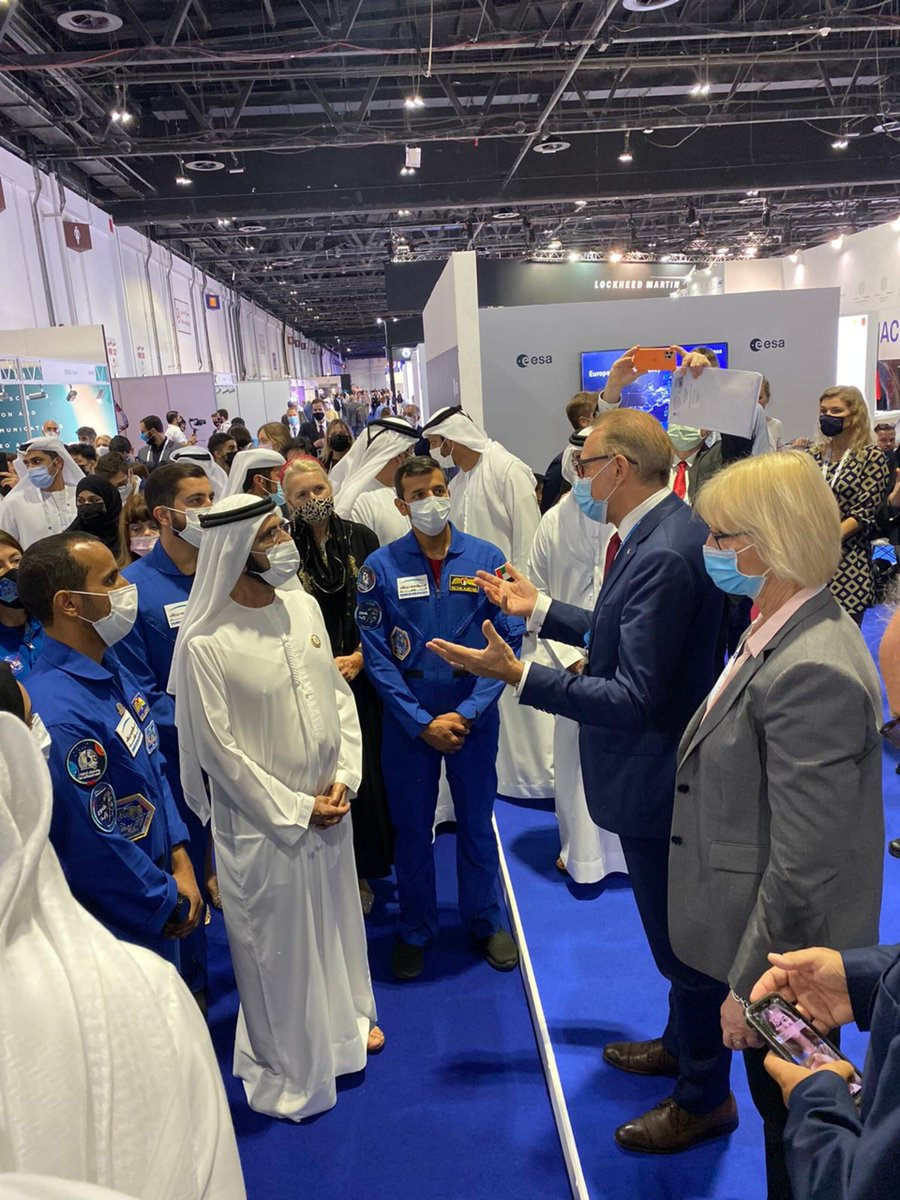 The 72nd International Astronautical Congress #IAC2021 opened its doors today in Dubai, United Arab Emirates, for a week of intense interactions for the world space community 👉 esa.int/About_Us/Exhib…