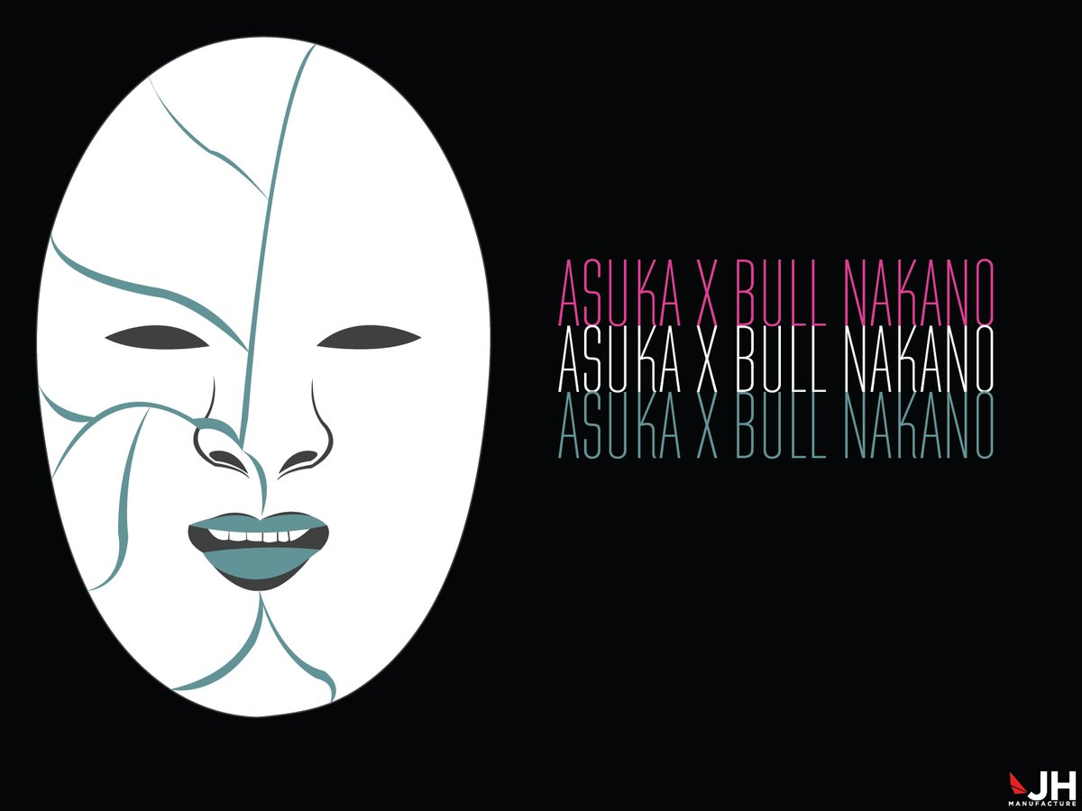 Wanted to design this idea for a long time, so I made a @WWEAsuka mask with a @bullnakanokeiko tribute design.   #wwe #wrestling