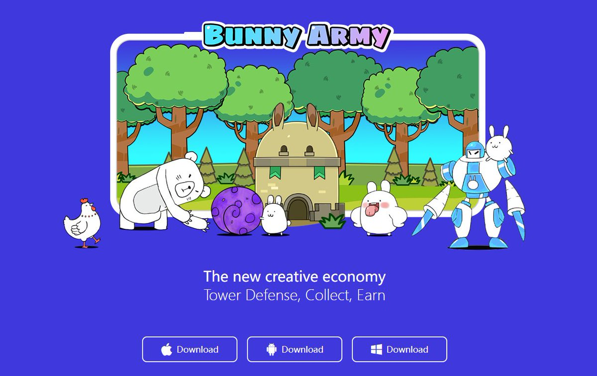Bunny Army-Official Launch🚀 🎉Historic Moment Support Systems-Android📱Windows💻Mac🖥 Enter the official website to download the application and call bunnies to participate in the battle! 👉Official Website: bunnyarmy.io #OEC @OKExChain @JayHao8 #GameFi