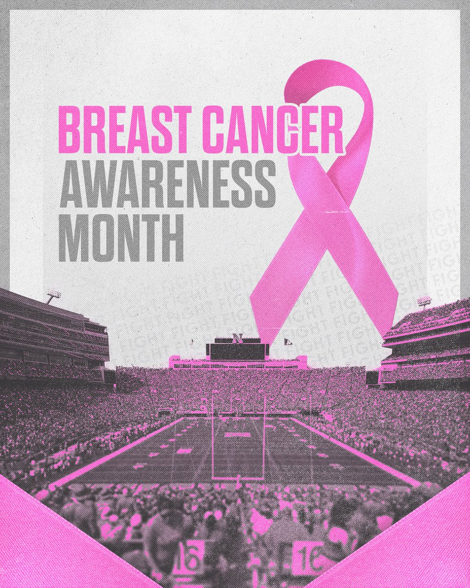Husker Football stands with those battling and affected by breast cancer. #BreastCancerAwarenessMonth /// #GBR