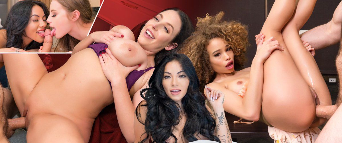 Which girl in Womanizer Chronicles did you enjoy the most from? @officialcclionx @ANGELAWHITE @lilkymchii @thekatyjayne @KylerQuinnPorn . #dezyred . #vrporn #vr #sex @VRPorn @PornCorp @VRPorn
