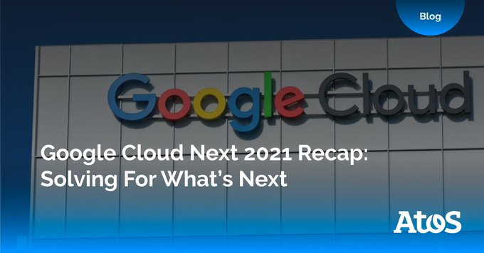 """This year's #GoogleCloudNext's tagline was, """"Solving for what's next"""", and @GoogleCloud CE..."""