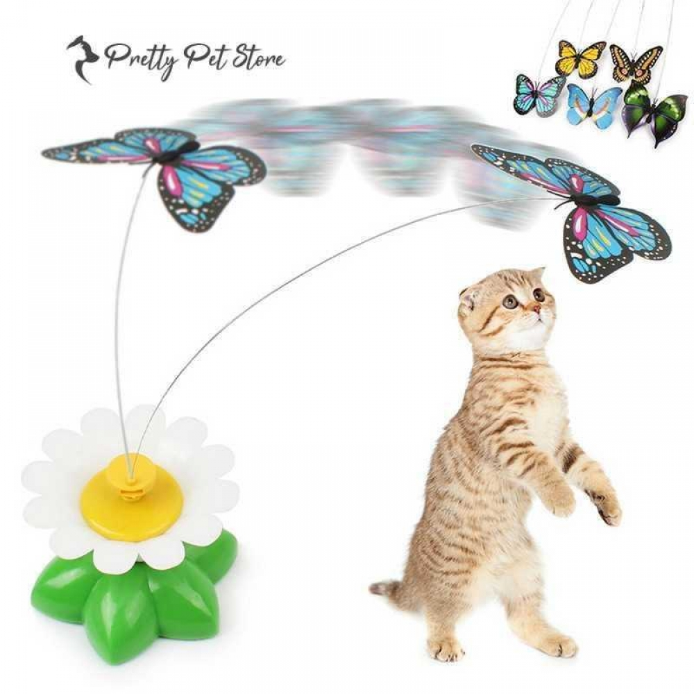 #dog #pets Rotating Butterfly Toy