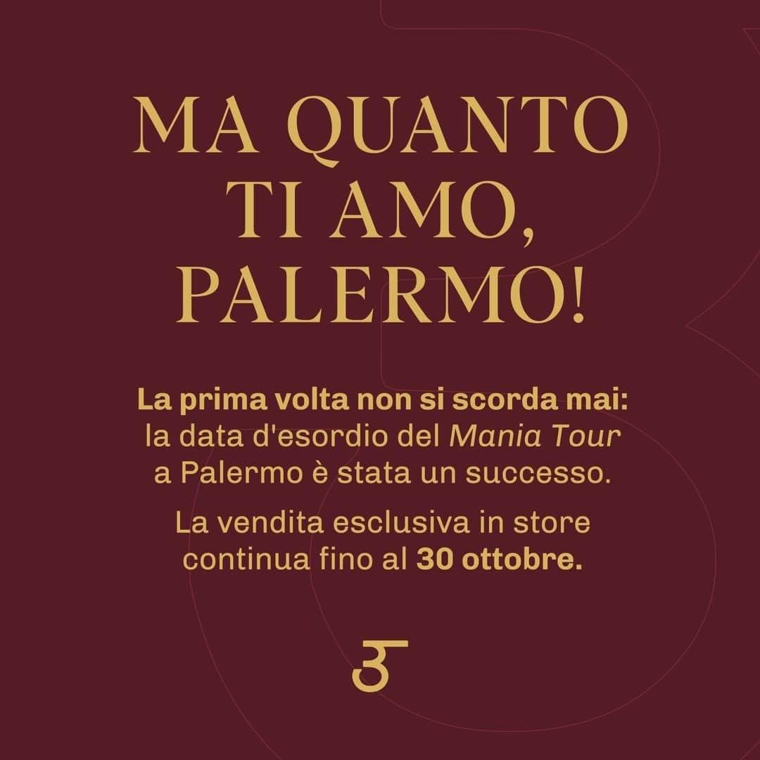Ma quanto ti amo, Palermo!  La prima volta non si scorda mai: la data d'esordio del 𝘔𝘢𝘯𝘪𝘢 Tour a Palermo è stata un successo.   La vendita esclusiva in store continua fino al 30 ottobre. ___ #CanYaman  #Repost Ig post and stories  @canyamanmaniaofficial   #CanYamanMania