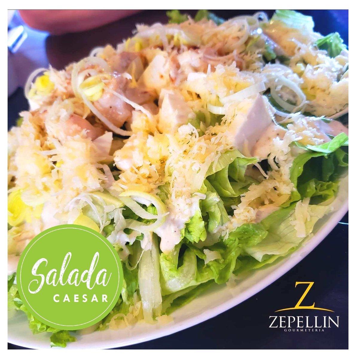 Acompanhando tbm de leve a sua segunda-feira 😉🥗🏃♀️🏃♂️  Vem pro Zep ou peça em casa pelo Zap 📱99274 7095 ⏰18h às 22h30  #vemprozep #salada #saladacaesar #fitness #fit #vidaleve #vidasaudavel #gourmet