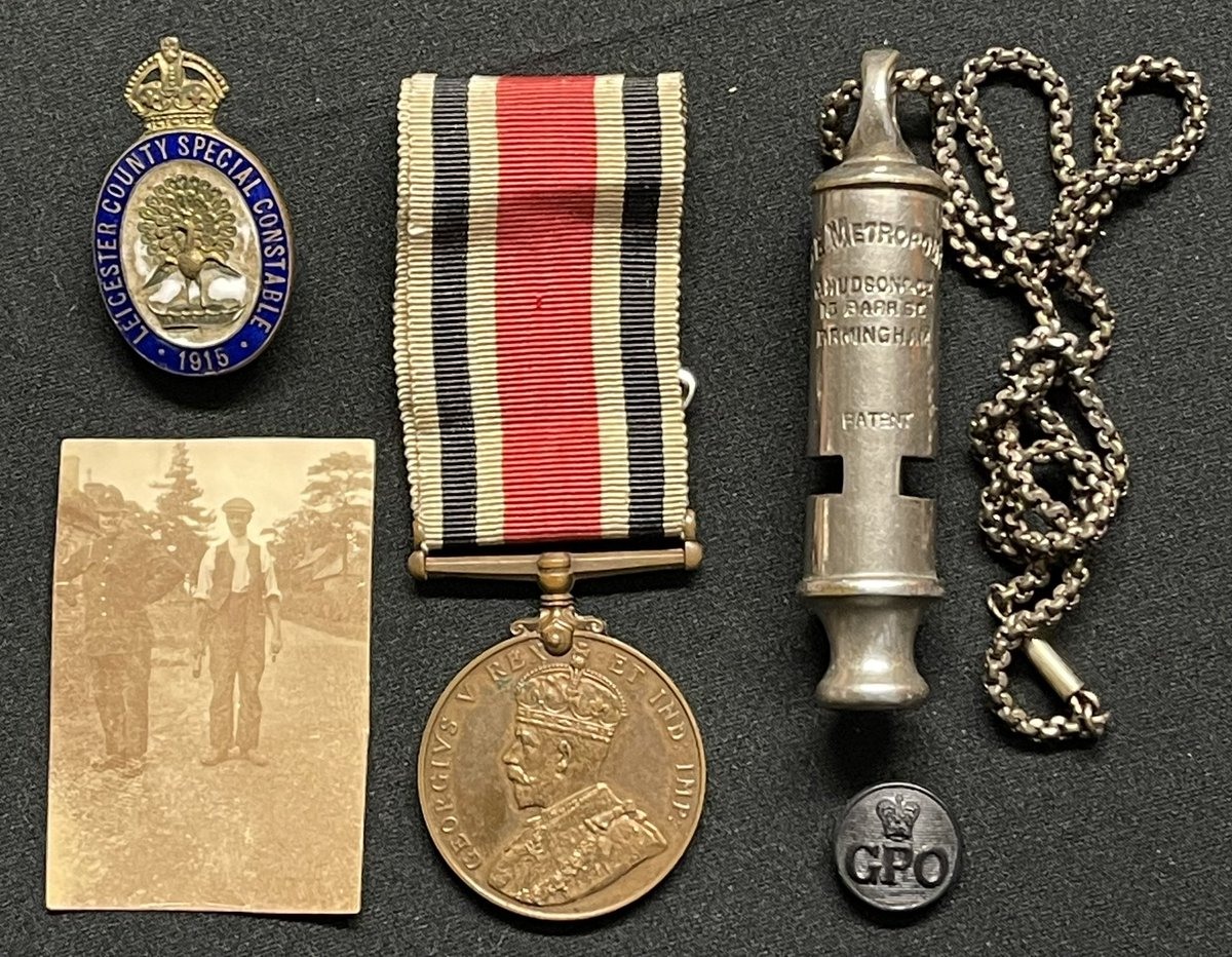 #WW1 #Leicestershire #special #constabulary #medal #badge #photo #police #whistle coming up in my December 8th sale @bamfordsauction