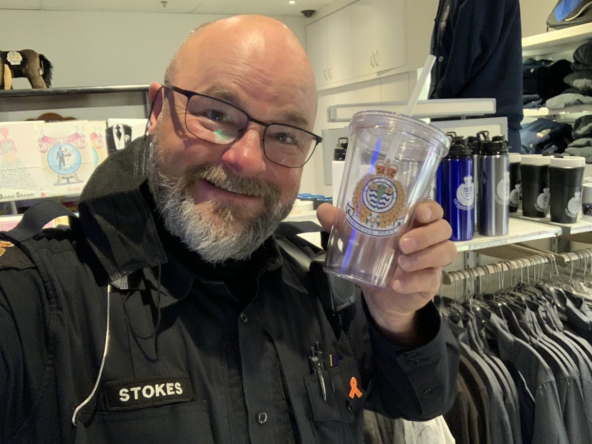Hey Kiran!  Did some shopping at our @vpdstore ! I'm dropping this cup over to @CstJPonsioen for you!  Make sure you hit him up for it! #keptmypromise #coffee #swag #coffeewithacop #cheers #vpd #police #stoked