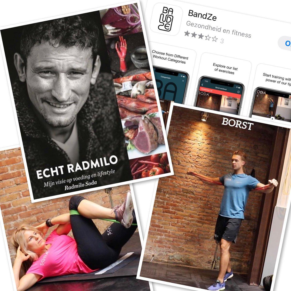 Bandze app en het boek EchtRadmilo van Radmilo Soda help je bij fit en gezond  lifestyle. Bestel je het boek bij   #training #personaltraining #sodabodyfit #sodabodyfitstudio #radmilosoda #fit #gezond #healthy #lifestyle #echtradmilo