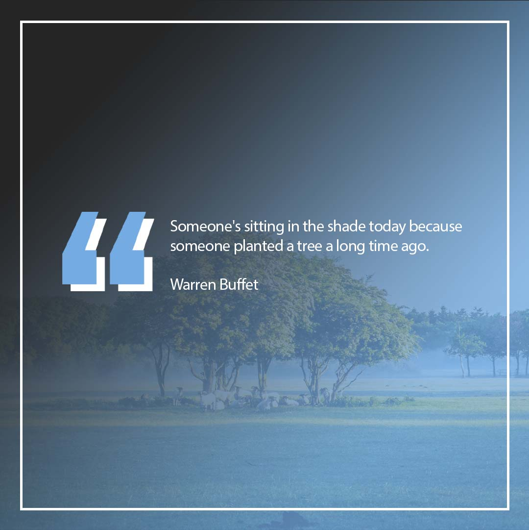"""""""Someone's sitting in the shade today because someone planted a tree a long time ago.""""  Warren Buffet  Join our team and create a financial future for your family. #Motivation #MotivationMonday"""