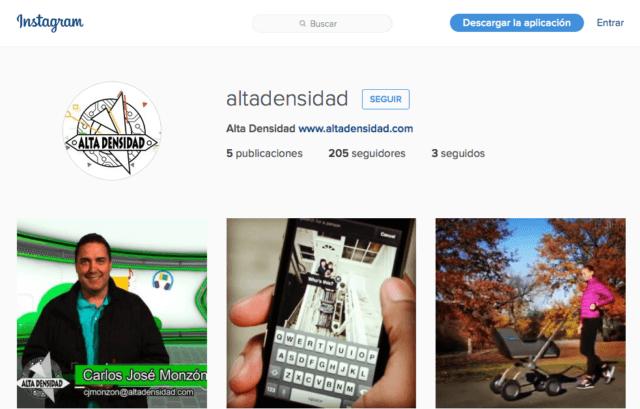 🔗 También llenamos de futuro tu #Instagram con tecnología inteligente de #AltaDensidad. Síguenos ahora en