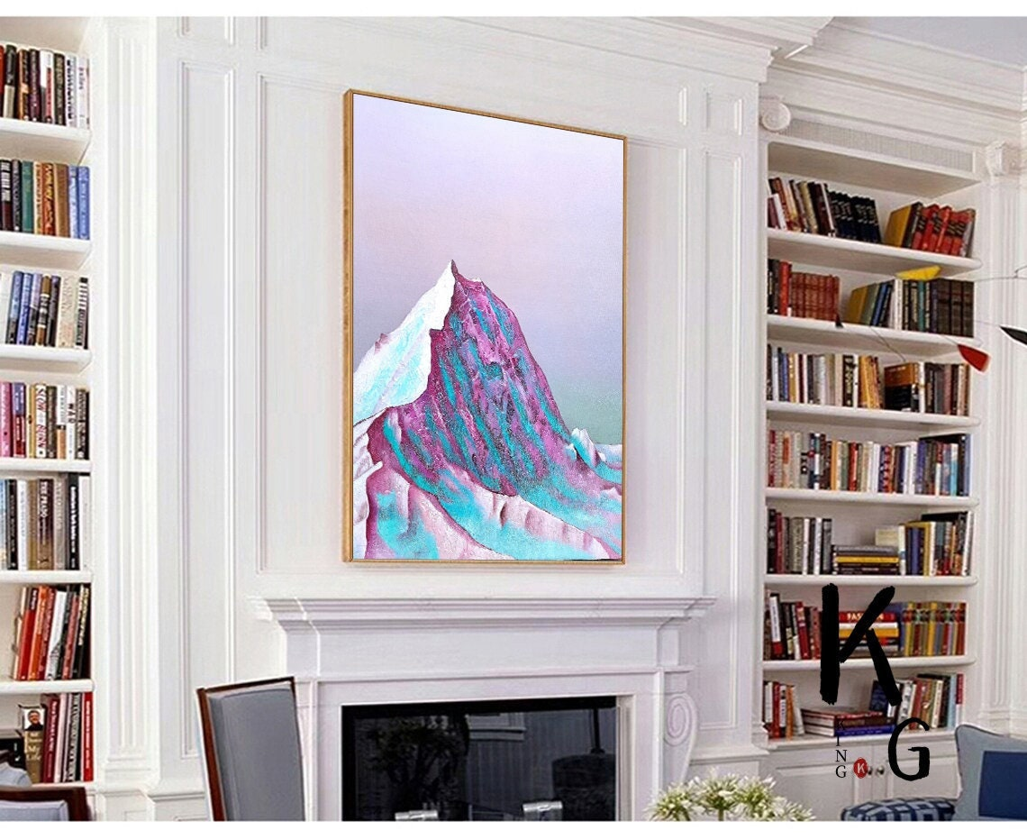 Excited to share the latest addition to my #etsy shop: Large Original Mountain Abstract Painting,Snow Landscape Art Canvas,Iandscape Paintings,Acrylic Painting,Mountain Painting,Textured Painting  #office #fabric #abstract #fashion #contemporary
