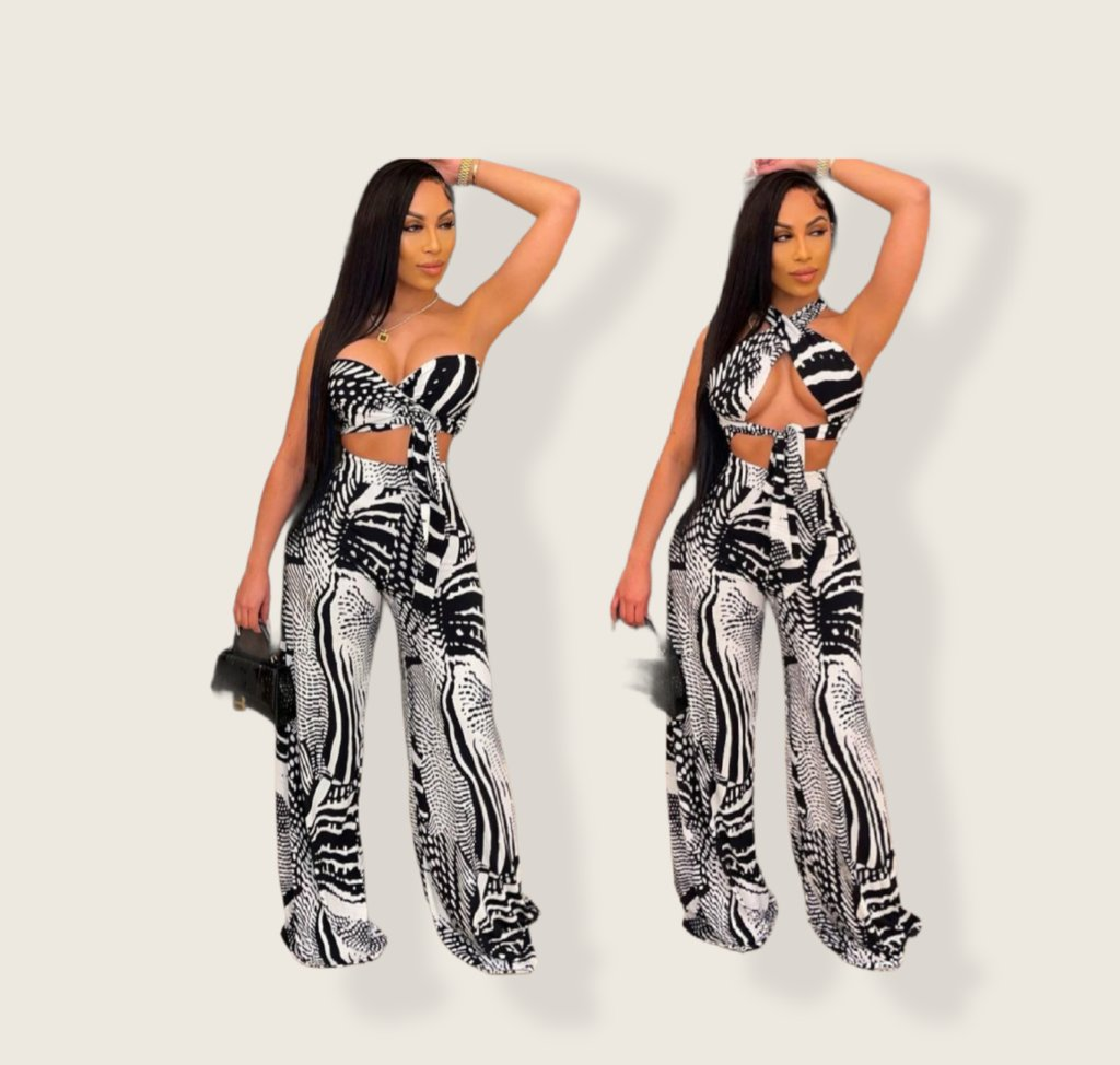 Check out this product 😍 Sexy Bra Crop Top Wide Leg Pants Two Piece Set 😍  starting at $39.99.  Shop now 👉👉   #fashion