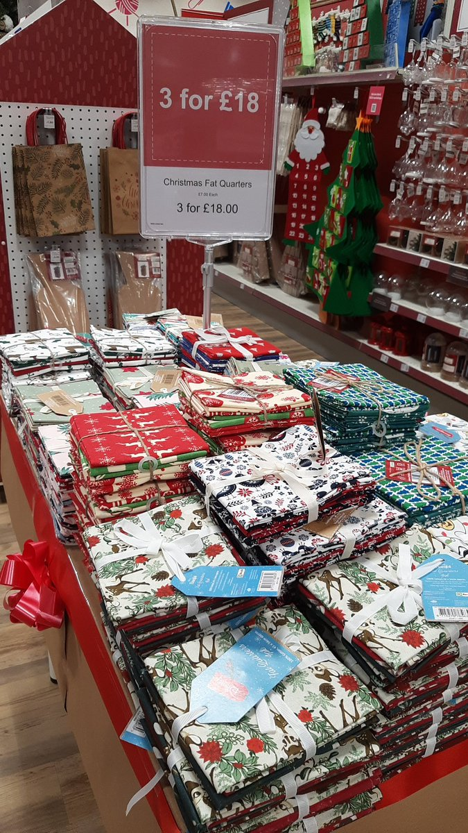 Our lovely #Christmas fat quarters are £7 each or 3 for £18! What could you make this season?  #Hobbycraft #hobbycraftworcester