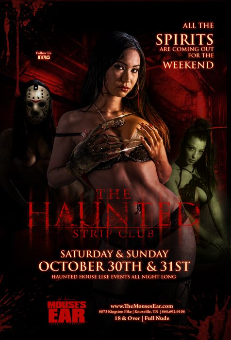 Join us this weekend in the Haunted Strip Club as we scare up some fun with the hottest ghouls in Knoxville! Saturday Oct 30 & Sunday Oct 31! You're in for a scream! . . . #Halloween #HauntedHouse #Party #HalloweenParty #Ghouls #Fun #ThingsToDo #MousesEar #Knoxville #StripJoint