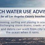 Image for the Tweet beginning: Beach Water Use Advisory: