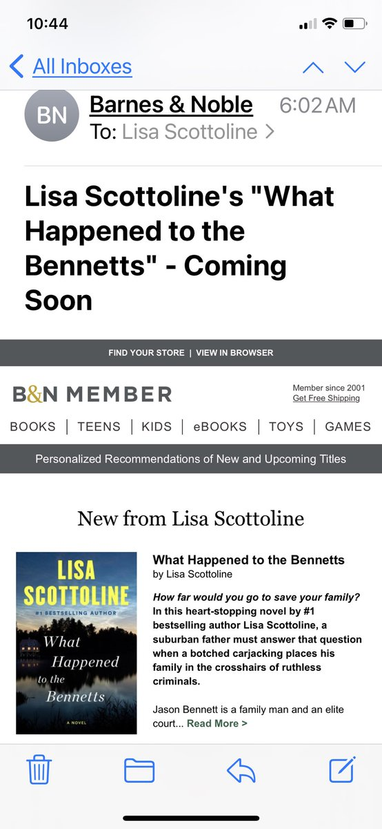 I am in awe of Lisa Scottoline's breadth. She never stays in one place. I'm always excited to see what she writes next!