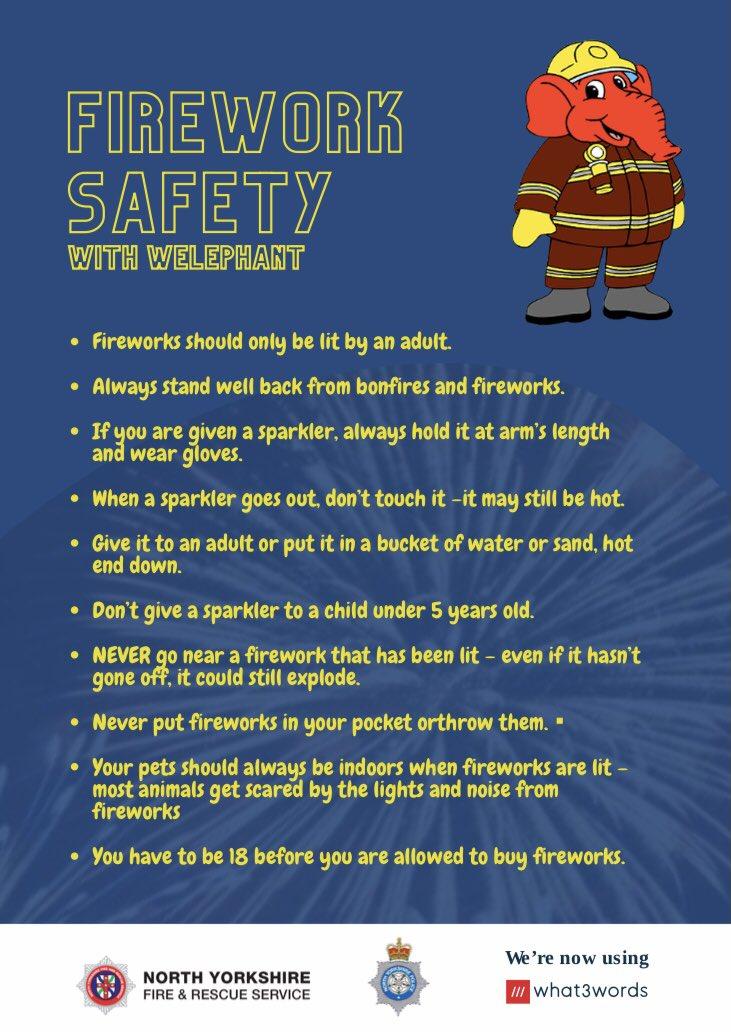 Enjoy a safe bonfire night by following a few simple rules:  #FireworkSafety #BonfireNight