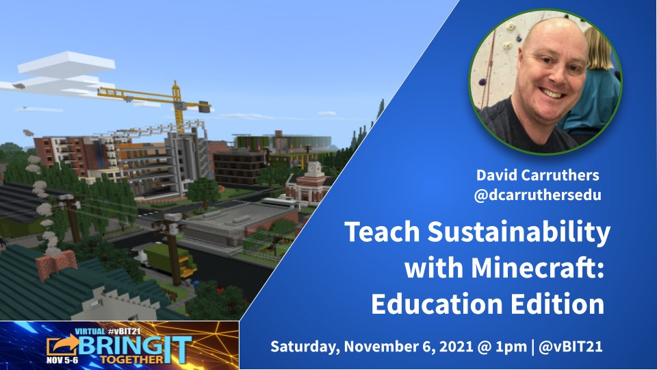 New to Minecraft: Education Edition? This session has you covered. 😃 We'll start with the basics, and then unpack 6 incredibly detailed mini-lessons on sustainability in Minecraft: Education Edition. @vBIT21 @RamonaMeharg @aforgrave @bogiemomof2 @LOGICSAcademy #vbit21 #onted