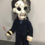 Image for the Tweet beginning: Tonight's featured crochet Hoodoo doll