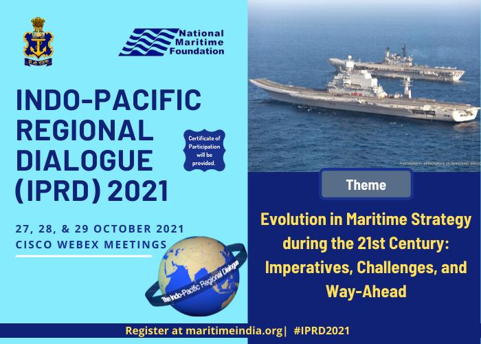 हिन्द-प्रशांत क्षेत्रीय संवाद 2021 का 27 से 29 अक्टूबर, 2021 तक आयोजन