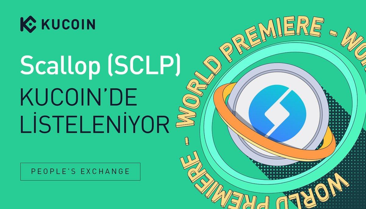 📢DÜNYA GALASI LİSTELEMESİ  @ScallopDefiBank $SCLP, #KuCoin'de listeleniyor!  🔹Çiftler: SCLP/USDT, SCLP/BTC 🔹Yatırma: şimdi açık (ağ: BEP20) 🔹Ticaret: 28 Ekim 2021  14:00 🔹Çekme: 29 Ekim 2021   13:00   Ayrıntılar: kucoin.com/news/en-sclp-g…  #DeFi #NFT