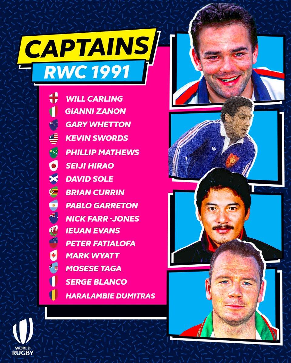 test Twitter Media - The RWC 1991 captains were quite a bunch...  #RWCRewind https://t.co/1nAaFSo8AH