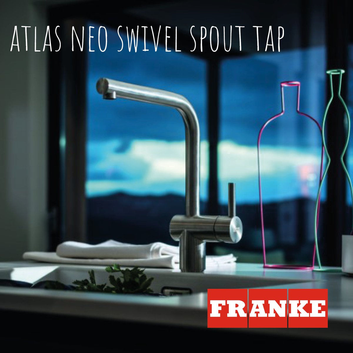 Offering an easy way to add a fresh, contemporary look and feel to your kitchen and made from durable, high-quality solid stainless steel, the iconic Atlas Neo Swivel Spout tap features contemporary straight lines and a timeless, minimalist design. franke.com/content/corpor…