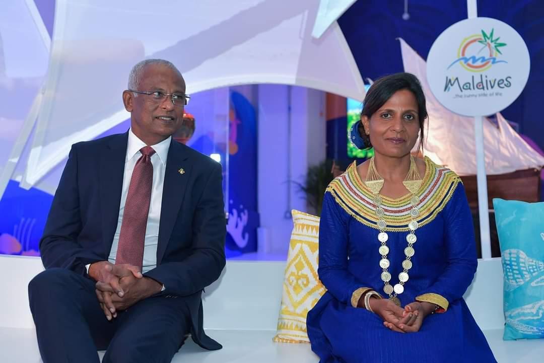 President @ibusolih and First Lady @thadhs visit #dubaiexpo2021    25 October, 2021