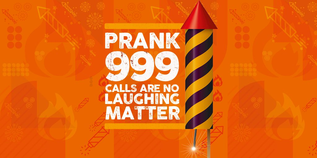 Think a joke 999 call is funny?   Think again.   When you make a prank emergency call you waste the time and resources of the emergency services, who are working hard to protect local communities.   Please remember this during #BonfireNight 2021 - it's no laughing matter ❌☎