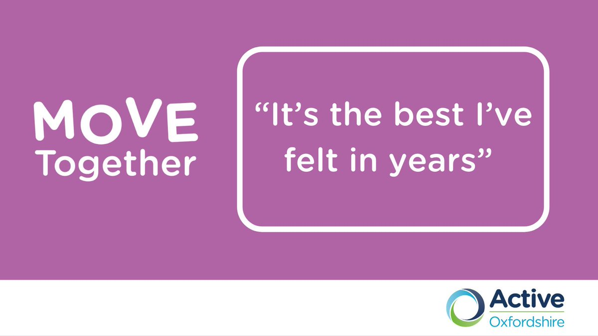 Please help us reach more vulnerable people today & share the word. #MoveTogether is already transforming lives across #Oxfordshire, with participants saying it's the best they have felt in years. More details are here: https://t.co/bAQyUEr56L