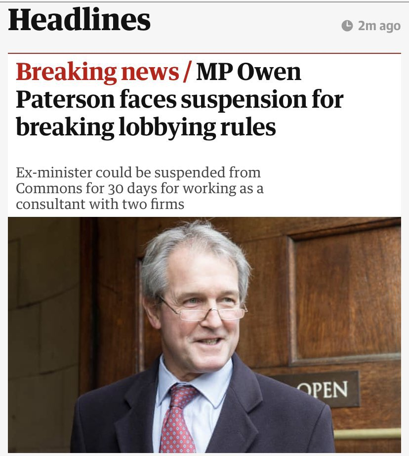 It's time to end #ToryCorruption and finally get their snouts out the trough. Let's #RecallPaterson.