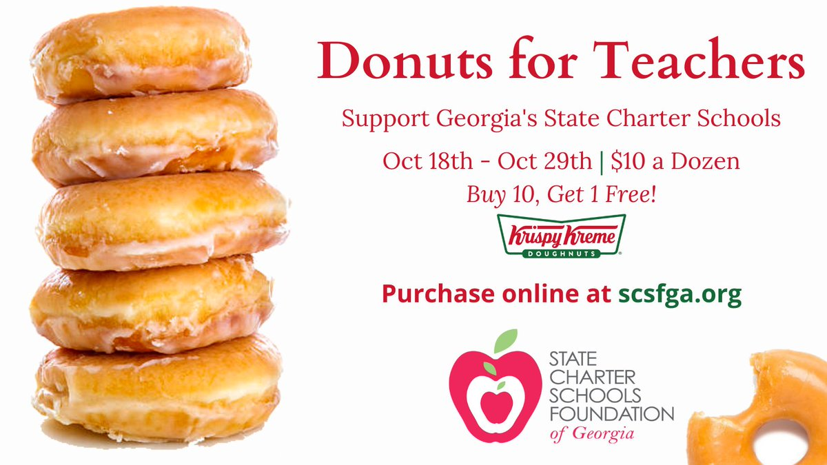 Donut orders are coming in, and Liberty Tech is far in the lead! The International Charter Academy of Georgia and D.E.L.T.A. STEAM Academy are tied for second place. Give your favorite state charter school a sweet treat! https://t.co/adGiLC8hgX @LTCSMavericks https://t.co/IHzOG9KbZA