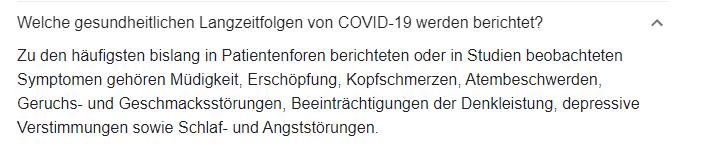 Wenn das die Symptome von LongCovid sind, dann haben 50% der Deutschen schon vor Jahren Covid-19 gehabt!