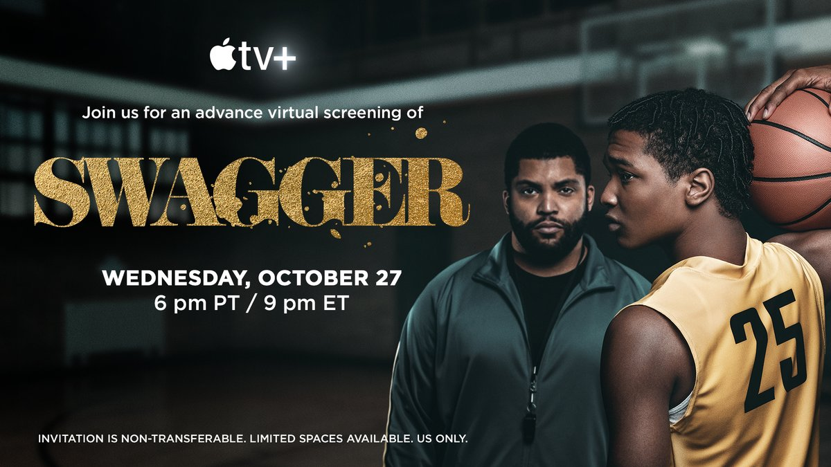 Get a chance to see #Swagger early with an advance virtual screening tomorrow 6PM PT/9PM ET
