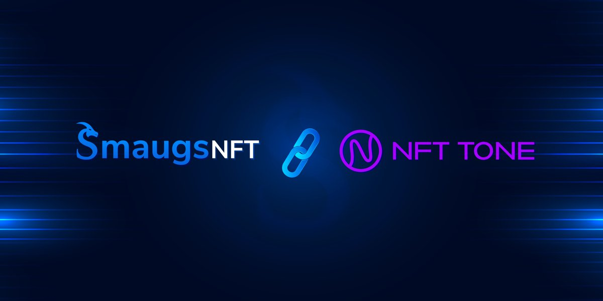 #SmaugsNFT is proud to announce our partnership with @nfttone   NFTTONE is a decentralized, social NFT marketplace where you can turn your songs, music, performances or TONE'S into unique NFTs.   $SMG & $TONE will cooperate in the NFT marketplace.🔥💪🏼