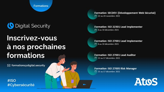 [Formations 🎓] Les inscriptions pour nos prochaines formations SECDEV & ISO sont...