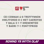 Image for the Tweet beginning: Cwpan Nathaniel MG 🏆🏴  Canlyniadau Rownd