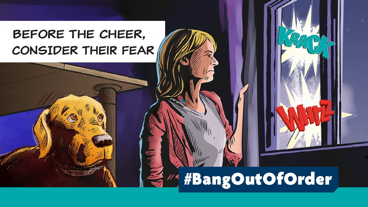 Dogs can find fireworks extremely stressful and #BangOutOfOrder  It's important that owners have as much notice as possible about #Bonfirenight parties so they can try and prepare their pets. Check out @RSPCA_official helpful advice  rspca.org.uk/adviceandwelfa… pets/general/fireworks