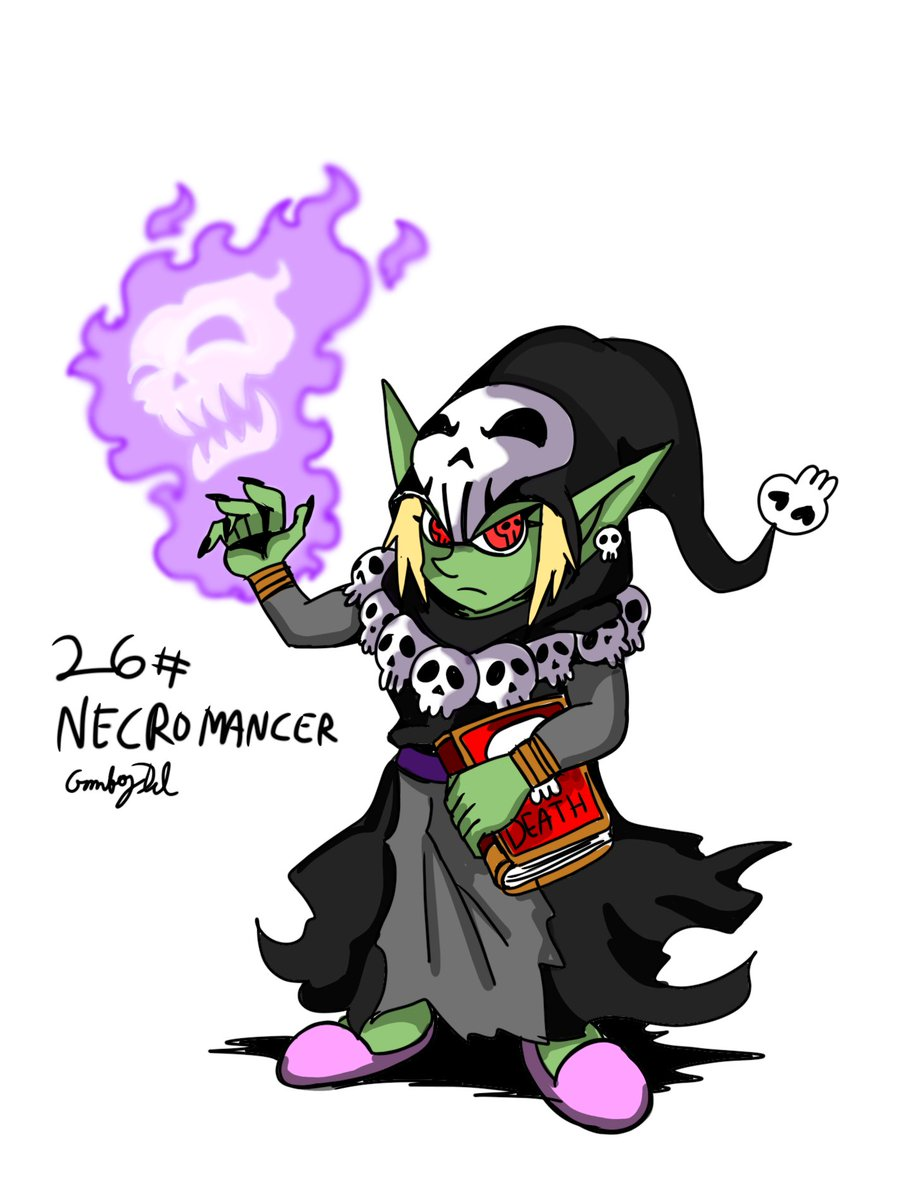 Necromancers, I say they are cool #gobtober2021 #Gobtober