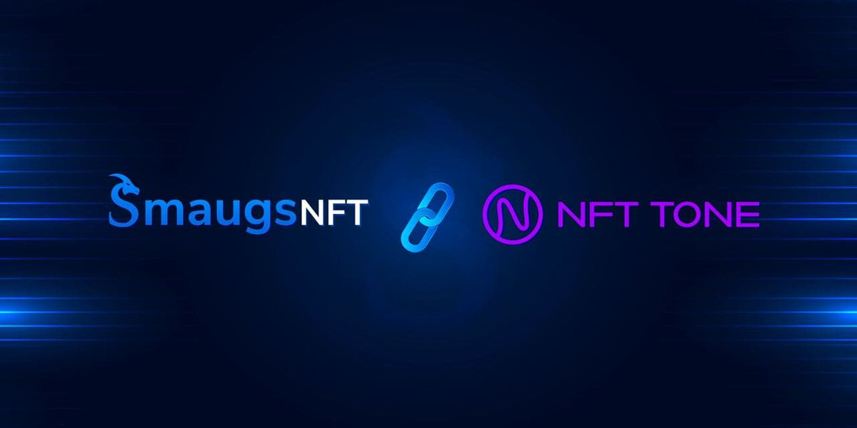 #NFTTONE is proud to announce our partnership with @smaugsnft. Smaugsnft is the worlds first AI-Powered marketplace where you can sell your digital assets as NFT Tokens in the digital world🚀  $TONE & $SMG will cooperate in the NFT marketplace.🔥💪🏼