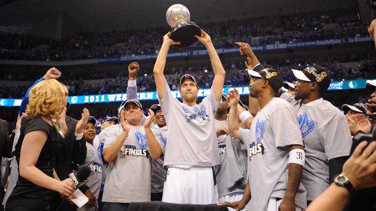 75th Anniversary Team member... Dirk Nowitzki! #NBA75 NBA Champion (2010-11) Bill Russell NBA Finals MVP (2011) 14x NBA All-Star NBA MVP (2006-07) 4x All-NBA First Team Learn more about Dirk: nba.com/75/player/dirk…